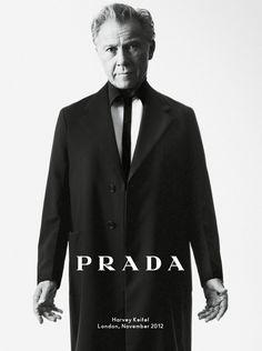 Harvey Keitel & Benicio Del Toro for Prada Uomo Menswear SS13 Campaign