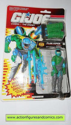 gi joe FLAK VIPER cobra 1992 vintage action figures hasbro toys moc mip mib