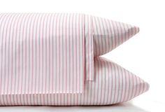 So cute in a little girl's bedroom!  Ticking Sheet Set, Pink on OneKingsLane.com