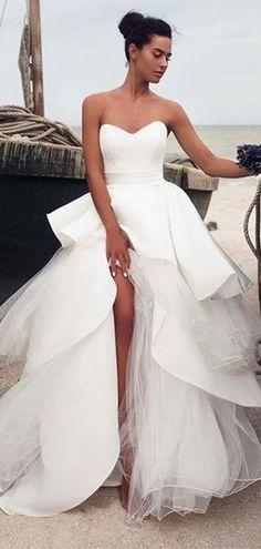 Unique Sweetheart Tulle Ball Gown Wedding Dresses e11c52292edd