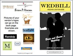 Wedbill:  A Playbill-like Wedding Program Template. $14.99, via Etsy.