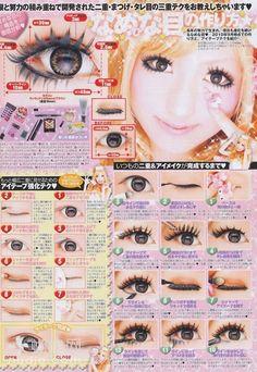 Gyaru and cute circle lenses Lolita Makeup, Gyaru Makeup, Lolita Hair, Diy Beauty Makeup, Anime Makeup, Kawaii Makeup, Cute Makeup, Makeup Inspo, My Beauty