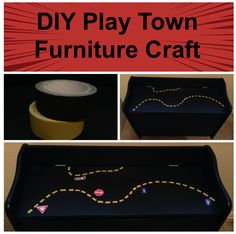 Race Car Bedroom Makeover with DIY Play Town Furniture Craft #Kids #HomeDecor ~ Trendy Mom Reviews