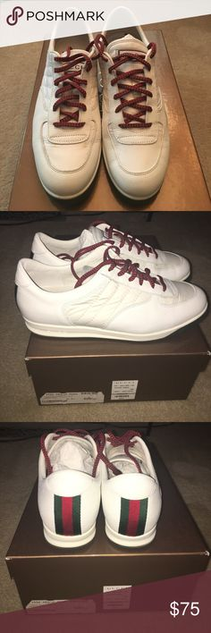92ce0dbb738 Gucci Sneakers Men low top leather sneakers. In good condition. Gucci Shoes  Sneakers Rare