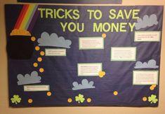 Money Saving (March themed) Bulletin Board