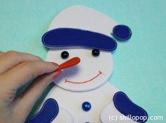 Frosty The Snowman Felt Puzzle PDF Pattern Felt Board Activities