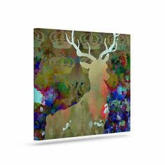 "Suzanne Carter ""Regal"" Purple Brown Canvas Art"