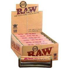 RAW Hemp Plastic 110mm Rolling Machine - 12 Count Box