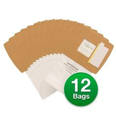 EnviroCare Replacement Vacuum Bags For Oreck BB1200 / BB1100DC Vacuums - 12 Bags