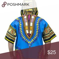 Hood dashiki  for men and women This is a one size shirt with hood for men and women Tops Sweatshirts & Hoodies