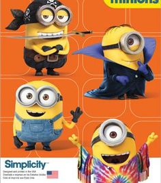 Simplicity Patterns Us1096A-Simplicity Child'S Minion Costumes-S-M-L