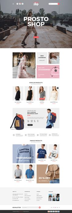 Prosto Shop - E-Commerce PSD Kit #store #ui kit • Download ➝ https://themeforest.net/item/prosto-shop-ecommerce-psd-kit/21097665?ref=pxcr