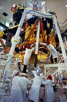 The Apollo 11 Lunar Module undergoing checkout at KSC in April of 1969.