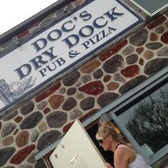 Doc's Dry Dock in Pewaukee, WI.... the Best Pizza in the World!!!!  Doc & Mary will totally take care of you : )