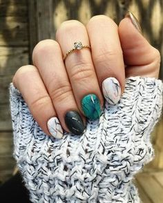 """""""When @dallasbeauty_ashley gives you beautiful marble nails you don't take it for """"granite""""..."""""""