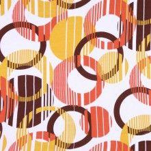 White Geometric Jersey Prints