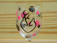 Country girl Wine Glass Gift for the deer by DesignsbyJulieBug