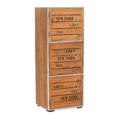 Entzuckend Schrank New York Loft Style 3 Fächer Ca. 28,5 X 71 Cm Loft