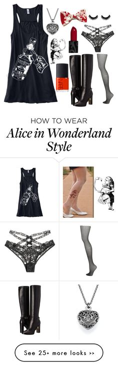 """""""Oh Alice... what have you done?"""" by cysha on Polyvore featuring Agent Provocateur, Topshop, Burberry and NARS Cosmetics"""