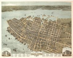 1872 BirdsEye View of Charleston: click to enlarge