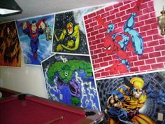 superhero wallpaper for bedroom. kids room superhero mural  Kids Bedroom with Princess Wall Mural Ideas Wallpaper Murals Superhero bedroom ideas for the Home projects Pinterest