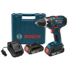 Drill ::::::::::::::: Bosch 18-Volt Compact Tough Drill Driver with (2) Slim Pack Battery (2.0Ah) and L-Boxx2-DDS181-02L - The Home Depot