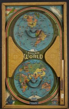 Round the World Game, vintage, bagatelle