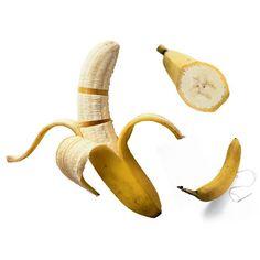 A sliced banana unpeeled how to