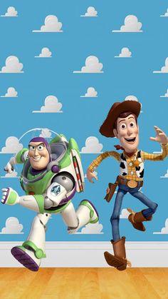 Toy Story Movie, Toy Story Buzz, Toy Story Party, Disney Toys, Disney Cartoons, Walt Disney, Wallpaper Infantil, Monsters Inc Toys, Woody Y Buzz