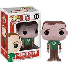 HA! Big Bang Theory Sheldon Green Lantern Pop! Vinyl Figure // Dad would LOVE