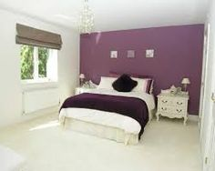 Purple and cream bedroom princess bed decorating and for Plum and cream bedroom designs