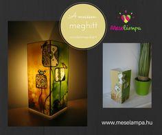 Meselámpa – gyereklámpa, éjszakai fény, éjjeli fény | madárkák meselámpa