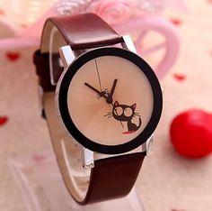 Dámské hodinky rudé kočka s pavoukem – dámské hodinky Na tento produkt se  vztahuje nejen zajímavá d5c647adb20
