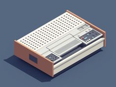 3D isometric animations of 90's electronic items :)Made with C4D (+ Vray), After effects and photoshop!