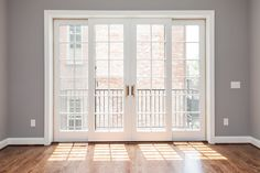 Sliding French Doors - saves on floor space!!