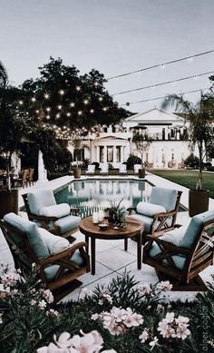 45 Backyard Patio Ideas That Will Amaze & Inspire You - Pictures of Patios Find inspirations to plan and beautify your backyard design. These backyard patio ideas will help you to make your backyard pretty and comfort. Check now! Future House, Outdoor Spaces, Outdoor Living, Outdoor Decor, Outdoor Seating, Outdoor Patios, Outdoor Sheds, Outdoor Pool Furniture, House Goals