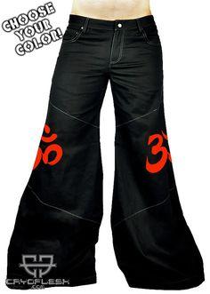 8ca056a8ed4 Cryoflesh OM Buddhist Cyber Goth Punk Rave EDC Tactical EBM Male Phat Pants  Rave Pants