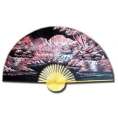 Red Night Wall Fan - OrientalFurniture.com
