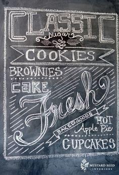 chalkboard art from miss mustard seed