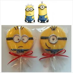 Custom Lollipops to match your Despicable Me party theme!