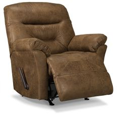 Designed2B Recliner 4579 Leather-Like Fabric Rocker Recliner - Stout | The Brick
