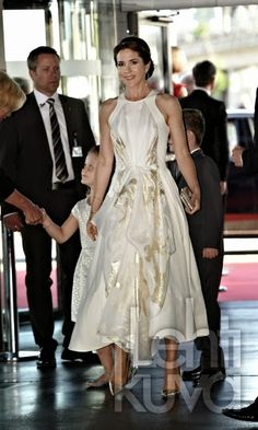 Danish Royal Family  attended  a gala performance on the occasion of Prince Henrik's 80th birthday in Copenhagen. June 1, 2014