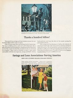 Large Antique 1963 Savings and Loan Associations of America Magazine Print Ad - Approx 11 x 14 - Suitable for framing.