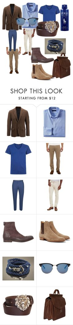 """#fashone#men#moda#winter#trend#"" by hannazakaria ❤ liked on Polyvore featuring Joseph, Lands' End, Hanro, Topman, Robert Graham, Alberto Fasciani, Yves Saint Laurent, Vicenzo Leather, Ralph Lauren and men's fashion"
