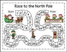 """FREE MATH LESSON - """"Christmas Math - Race to the North Pole"""" - Go to The Best of Teacher Entrepreneurs for this and hundreds of free lessons. Pre-Kindergarten - 2nd Grade #FreeLesson #Math #Christmas http://www.thebestofteacherentrepreneurs.com/2015/11/free-math-lesson-christmas-math-race-to.html"""