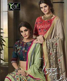 1701334882 kessi fabrics akshara fancy thread embroidery sarees collection wholesalers  in surat - Krishna Creation