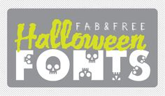 fab free Halloween font round up from design EDITOR (skullphabet rocks) #free #Halloween #font