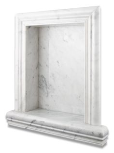 Product Attributes - Item: Premium (SELECT) Quality Italian Carrara White Marble Polished Hand-Made Custom Shampoo Niche / Shelf - LARGE - Dimensions (per piece): Please see the technical drawing (as - March 16 2019 at White Bathroom, Bathroom Interior, Small Bathroom, Bathroom Shelves, Bathroom Ideas, Glass Shelves, Restroom Ideas, Master Bathrooms, Dream Bathrooms