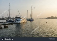 Szczecin, Poland - October 31, 2015: Motorboats And Sailboats At The Pier On The Lake Autumn Season In Poland Stock Photo 334460777 : Shutterstock