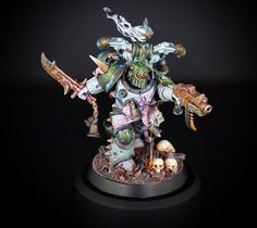 I plan to get back to brushes real soon now, I even bought new Nurgle paints likely some of those used on this model, knowing who painted it.